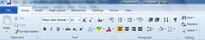 Word 2010 Environment (File Button (Tab), Ribbon, and Quick Access Toolbar)